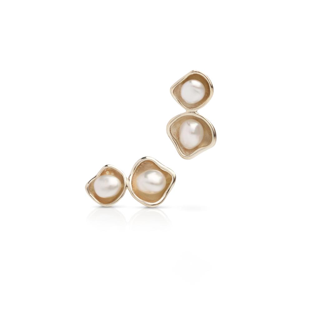 south sea keshi pearl stud earrings kimberley lily. Black Bedroom Furniture Sets. Home Design Ideas