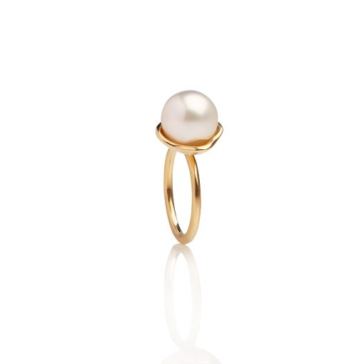 South Sea Pearl Kimberley Lily ring 9ct YG
