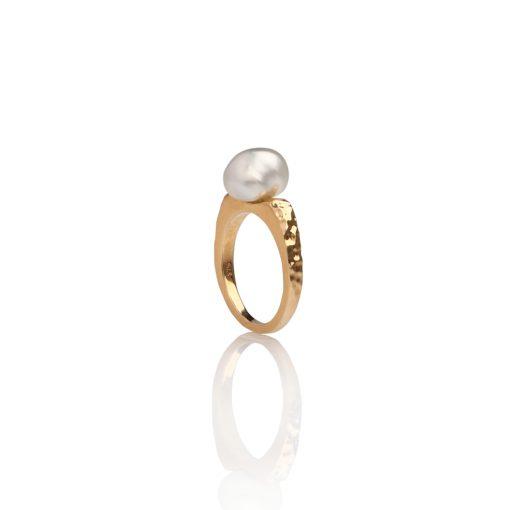 South Sea Keshi Pearl Petite Ring