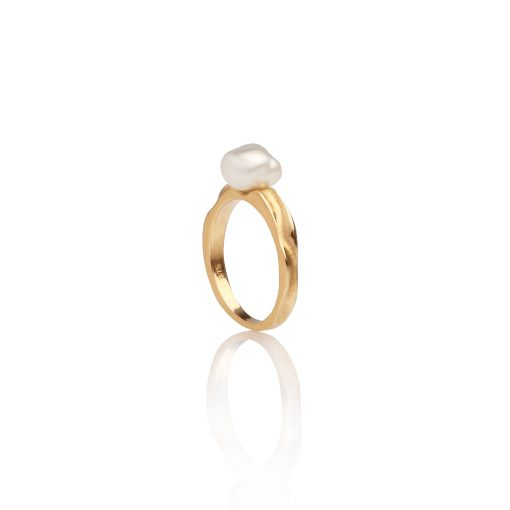 South Sea Keshi Pearl Petite Ring
