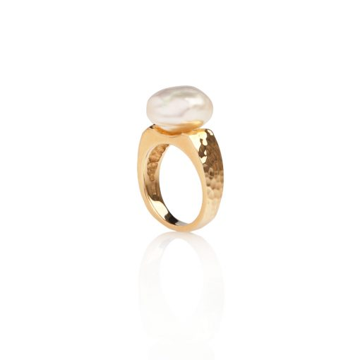 South Sea Keshi Pearl Ring
