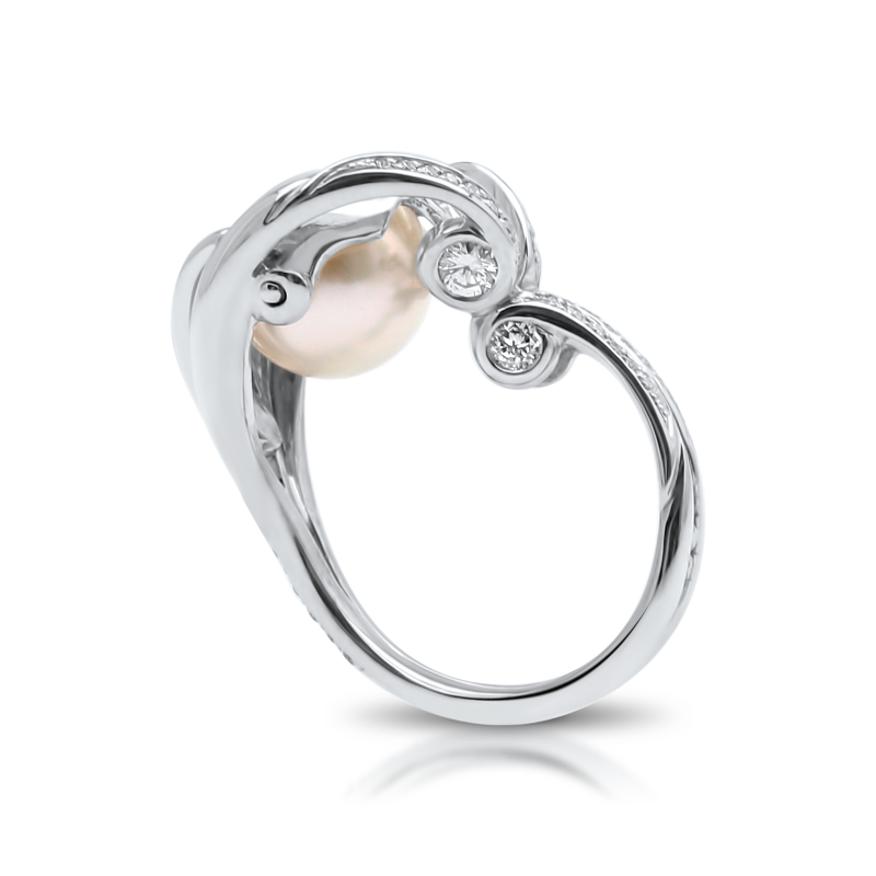 South Sea Pearl Diamond Ring