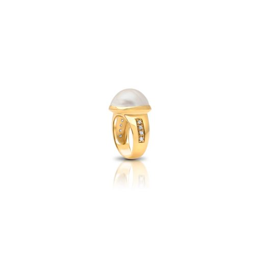 South Sea Mabe Pearl Diamond Ring(3)