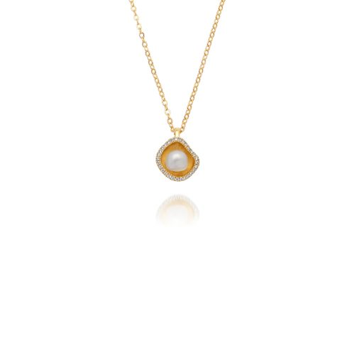 outh Sea Keshi Pearl Diamond Pendant