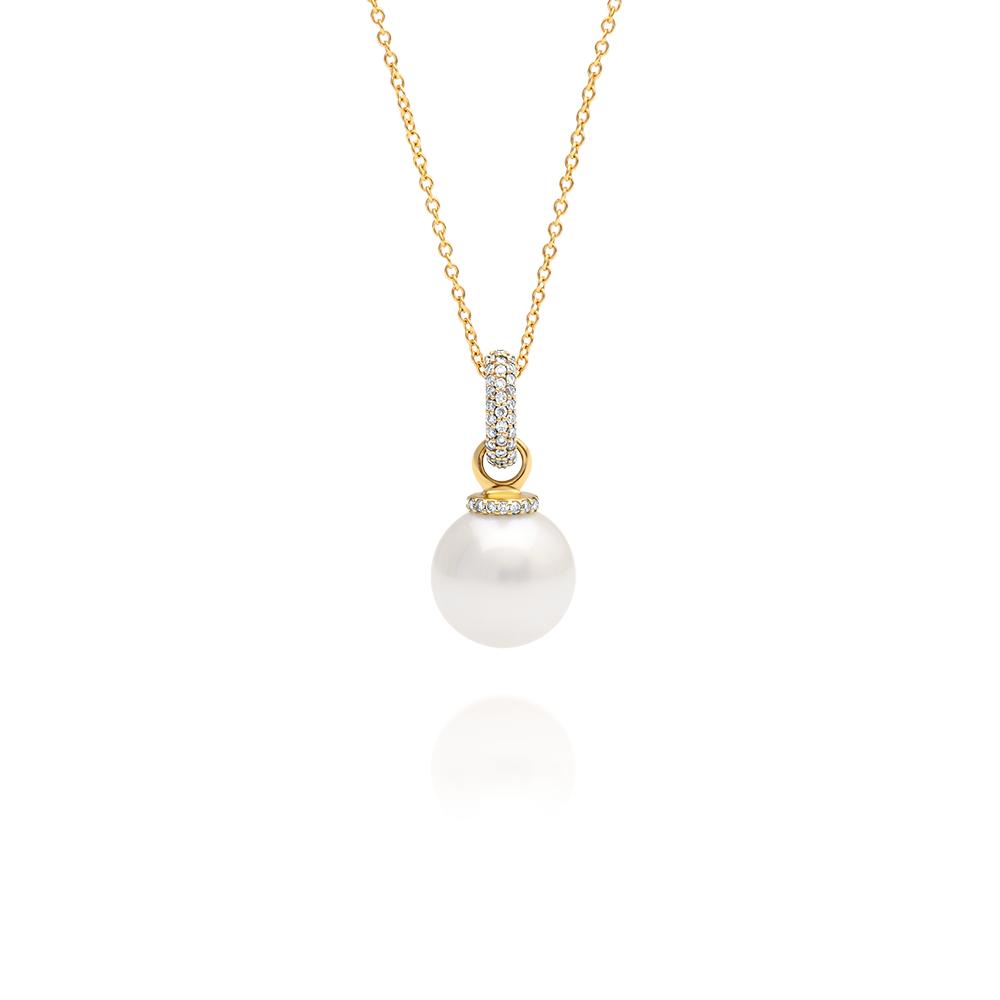 South Sea Pearl Diamond Enhancer Pendant Cygnet Bay Pearls