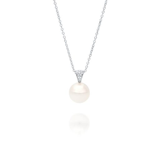 South Sea Pearl Dusty Diamond Pendant