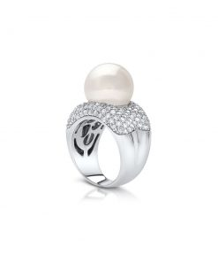 South Sea Pearl Stella White Diamond Ring
