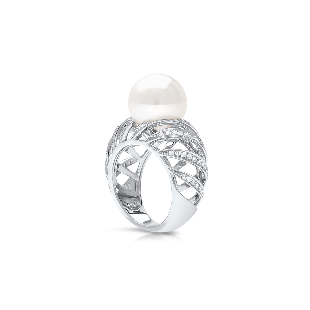 artcarved zadok pearl ring contemporary wedding diamond angle shop rings engagement e