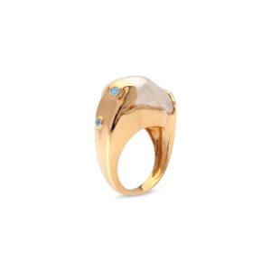 Australian South Sea Keshi Pearl Ring
