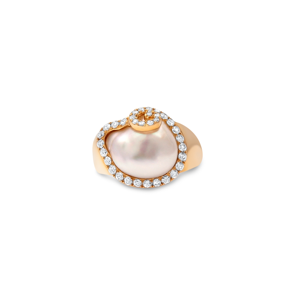 18ct yellow gold south sea keshi pearl ring cygnet bay. Black Bedroom Furniture Sets. Home Design Ideas