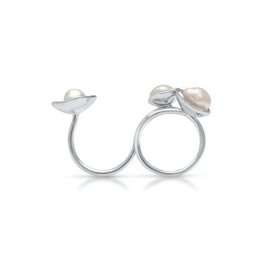South Sea Keshi Pearl Kimberley Lily Float Ring