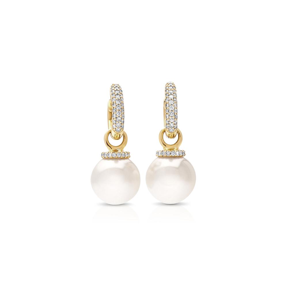 south sea pearl stella diamond huggie earrings cygnet. Black Bedroom Furniture Sets. Home Design Ideas