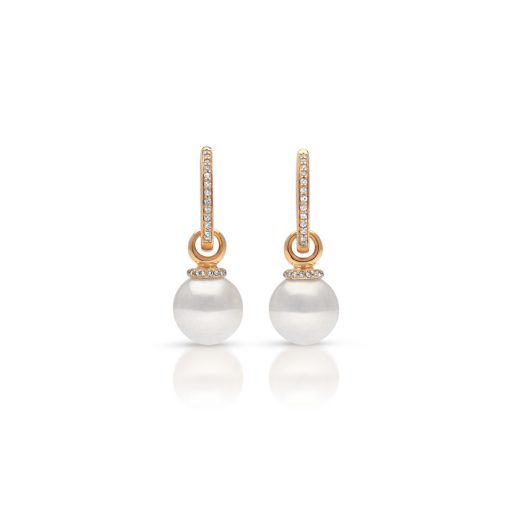 South Sea Pearl Diamond Banksia Earrings