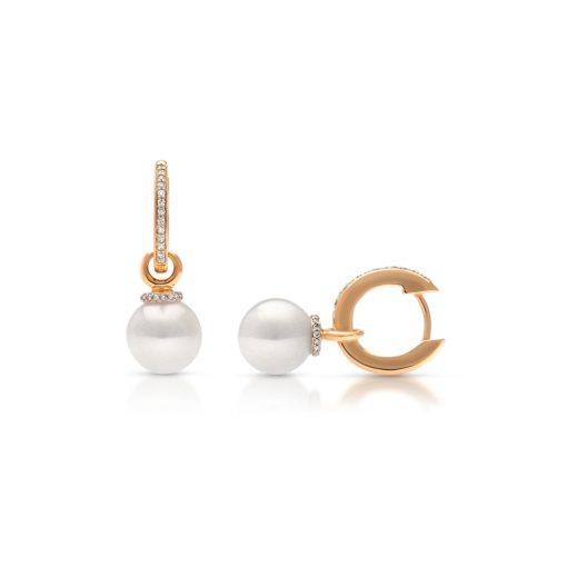 South Sea Pearl Banksia Diamond Earrings