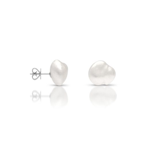 South Sea Keshi Pearl Stud Earrings Large