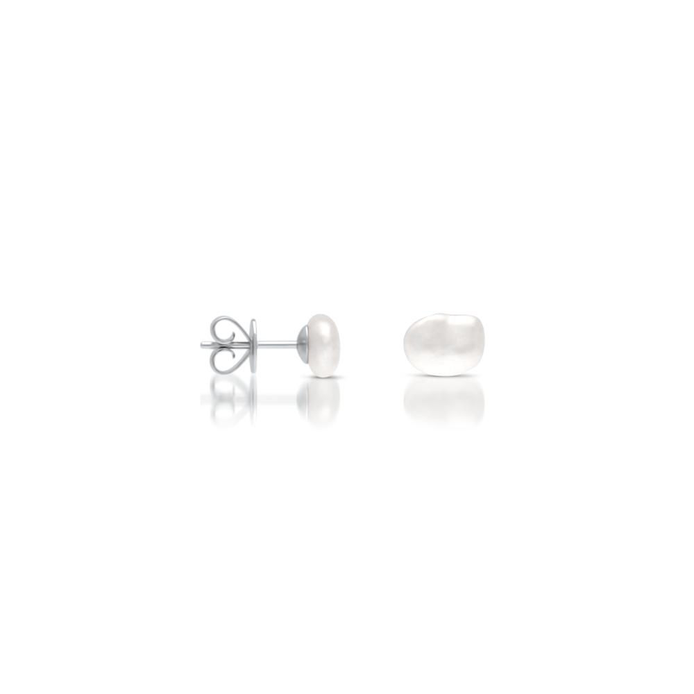 South Sea Keshi Pearl Stud Earrings Small