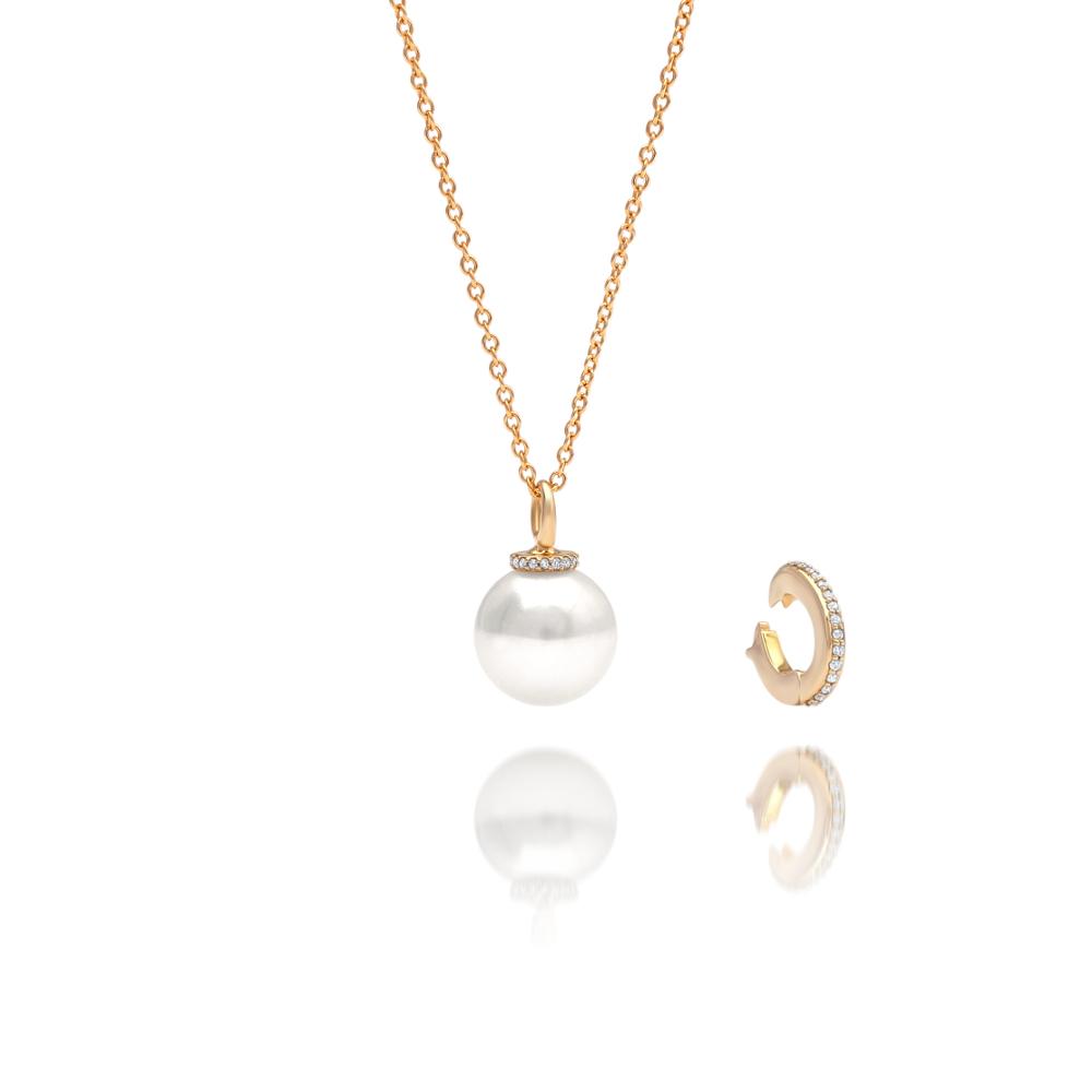 south sea pearl banksia diamond pendant cygnet bay pearls. Black Bedroom Furniture Sets. Home Design Ideas