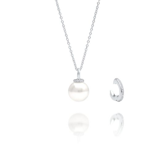 South Sea Pearl Banksia Diamond Pendant