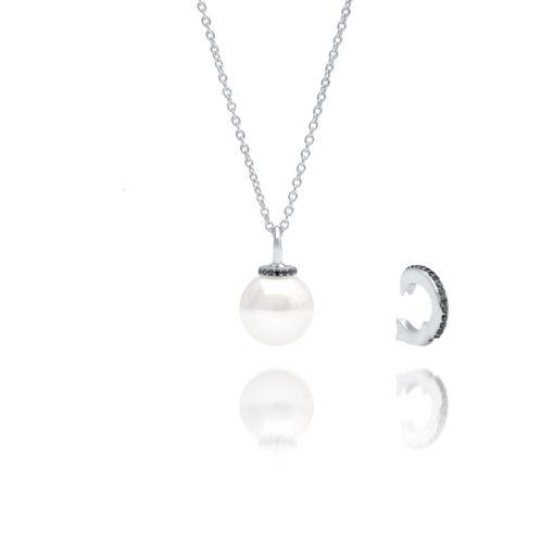 South Sea Pearl Banksia Black Diamond Pendant