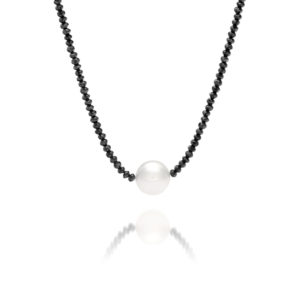 South Sea Pearl Black Diamond Necklace