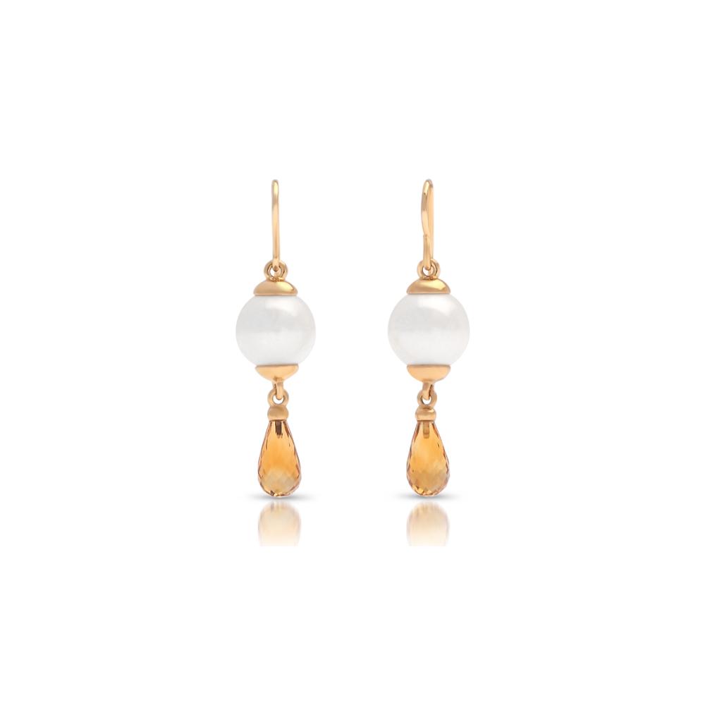 south sea pearl briolette citrine earrings cygnet bay pearls. Black Bedroom Furniture Sets. Home Design Ideas