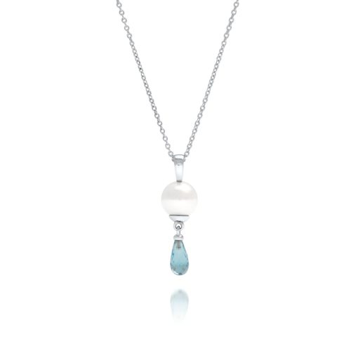 South Sea Pearl Briolette Topaz Pendant