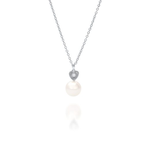 South Sea Pearl Diamond Heart Pendant