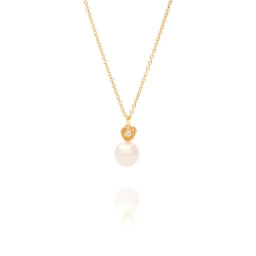 South Sea Pearl Diamond Heart Pendant