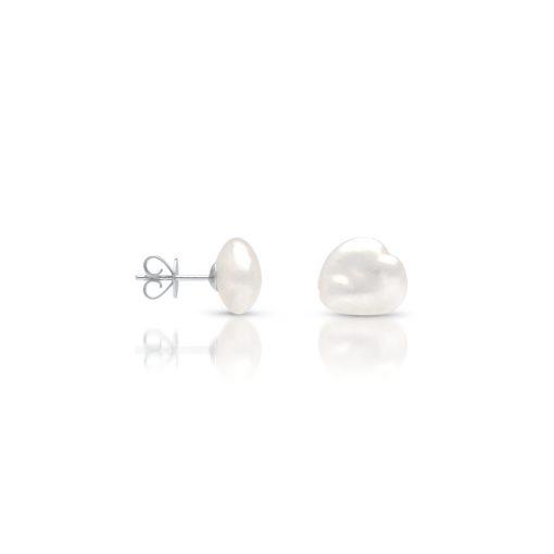 South Sea Keshi Pearl Stud Earrings Medium