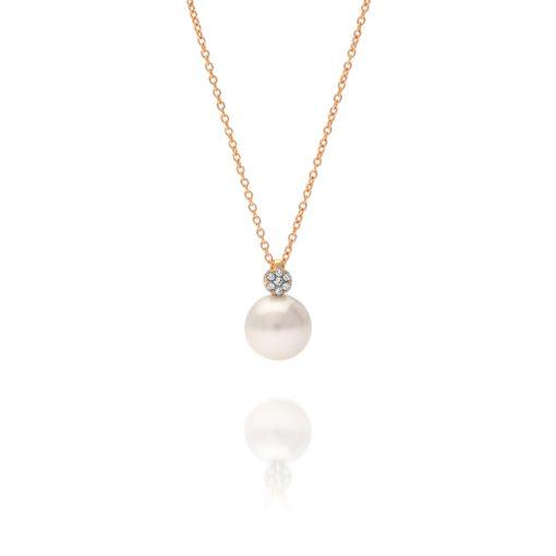 South Sea Pearl Diamond Cluster Pendant
