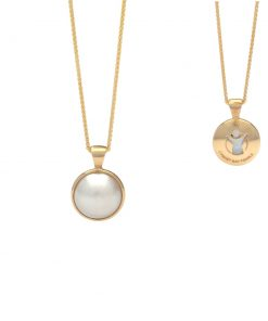 Save the Children South Sea Mabe pearl pendant 9ct yellow gold