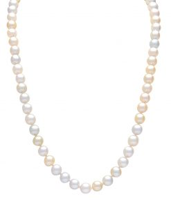 multi coloured gold akoya pearl strand