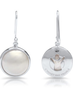 Save the children silver mabe earrings